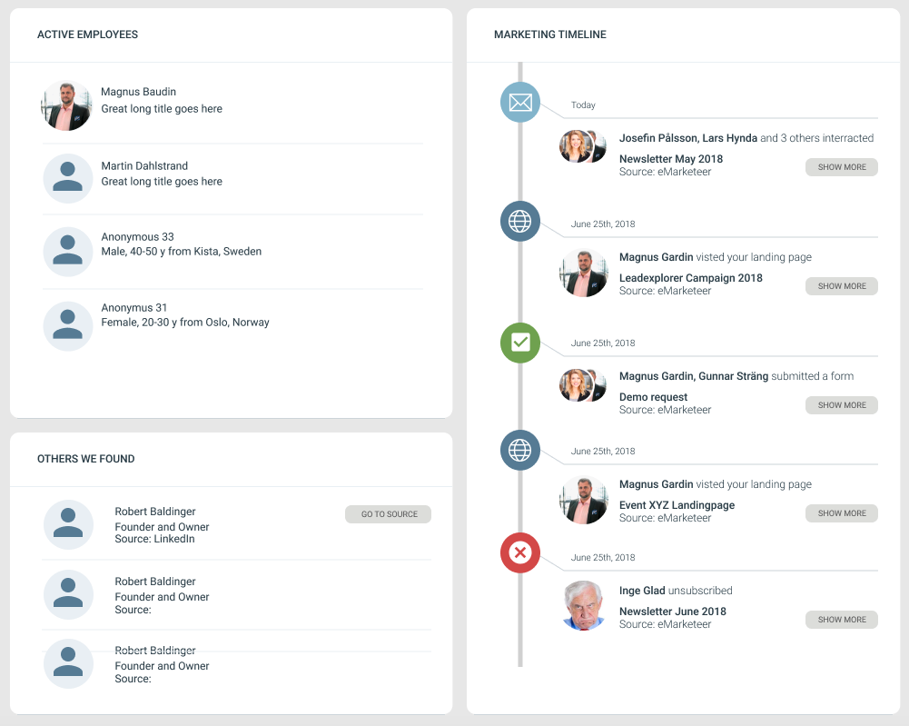 A personal marketing timeline from eMarketeer to Leadexplorer.